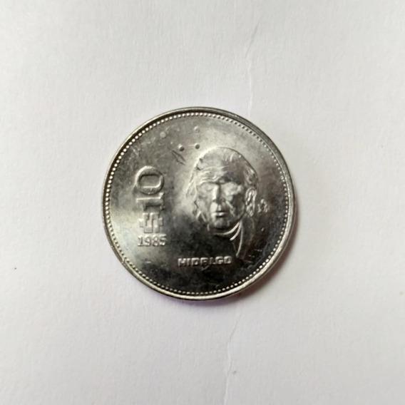 Moneda De $10 Pesos Mexicanos Hidalgo 1985 - 1990