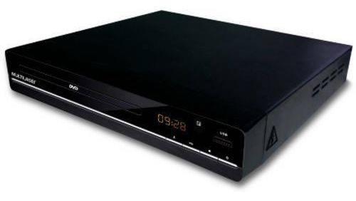 Dvd Player Multilaser Sp252 Multimidia 3 Em 1 Preto Bivolt