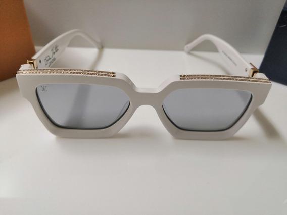 Óculos De Sol Louis Vuitton Millionaire Branco E Dourado
