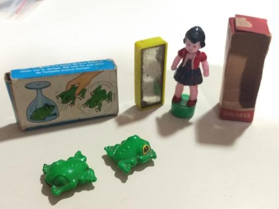 2 Brinquedos Antigos Magnéticos Da Alemanha Ocidental Raros