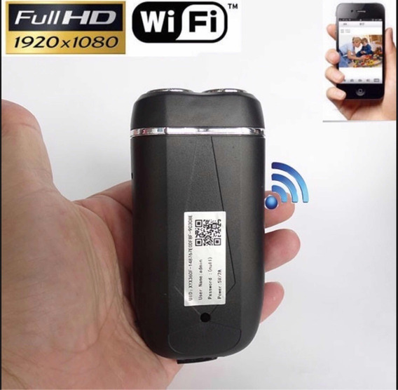 Micro Câmera Espião Spy Wifi Usb Barbeador & Power Bank