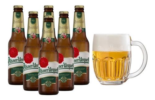 Imagen 1 de 3 de 6 Pack De Cervezas Checas Pilsner Urquell 330 Ml + Tarro