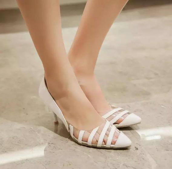 Zapato Stiletto Blanco Talle 43