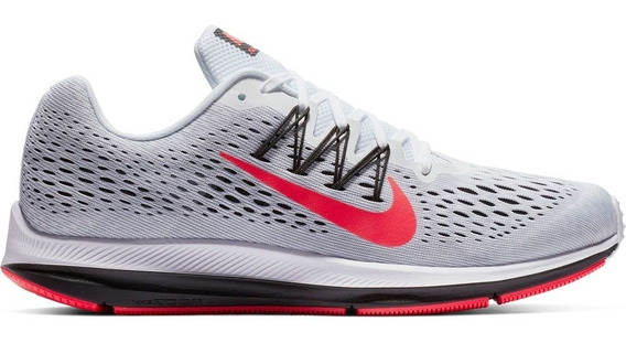Tenis Masculino Cinza Nike Zoom Winflo 5 Corrida Original