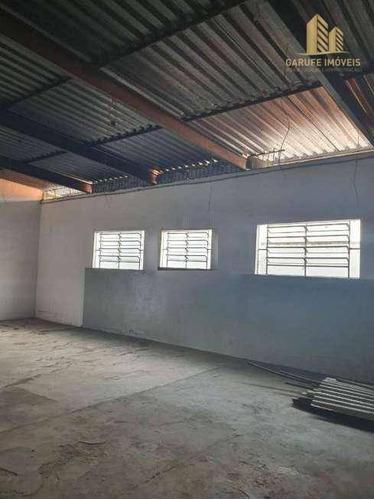 Galpão, 200 M² - Venda Por R$ 650.000,00 Ou Aluguel Por R$ 2.800,00/mês - Jardim Paulista - São José Dos Campos/sp - Ga0009