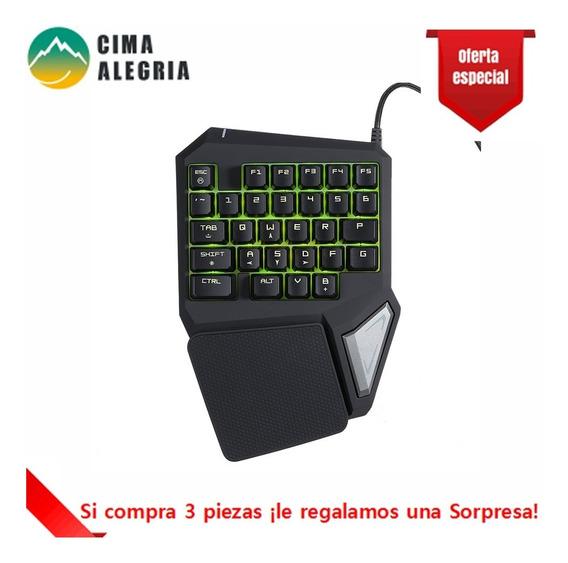 Delux Gaming Keyboard 29 Key Led Backlit Para Lol