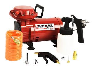 Compressor Ar Direto P/ Pintura + Calibrador + Pistola Comp