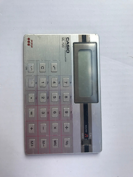 Calculadora Antiga Casio - Super Fina - No Estado