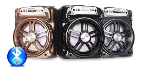Caixa De Som 20w Ms-258bt Bluetooth Tf/usb/rádio Fm