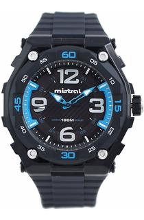 Reloj Deportivo Para Hombre, Bicolor, Sumergible 100mts.