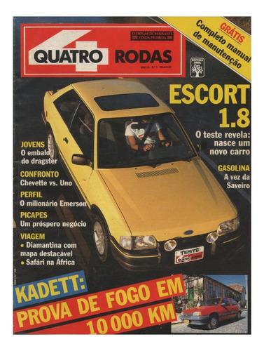 Quatro Rodas Nº348 Escort Xr3 1.8 Kadett Sl/e Uno Saveiro Gl