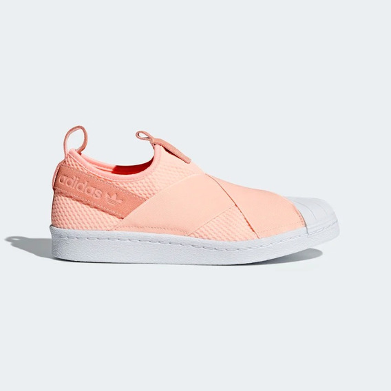 Tenis adidas Superstar Slip On W Rosa Mujer Nuevos Original