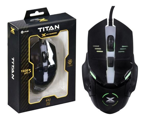 Mouse Gamer Titan Vx Gaming Vinik 1600dpi Original Novo Garantia