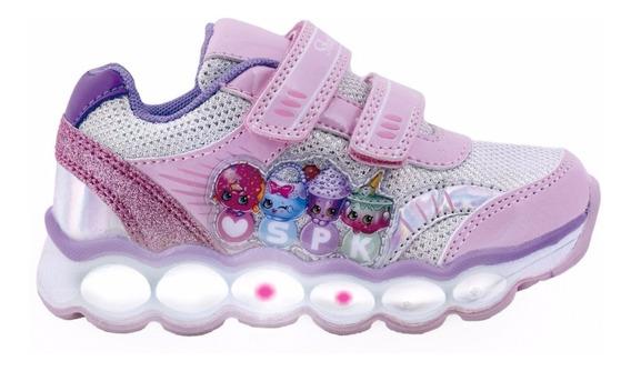 Zapatillas Con Luces Shopkins Footy #602 #603 Mundo Manias
