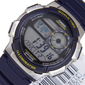 Relogio Casio Ae 1000w-2 Borracha Mapa. Cronometro 5 Alarmes