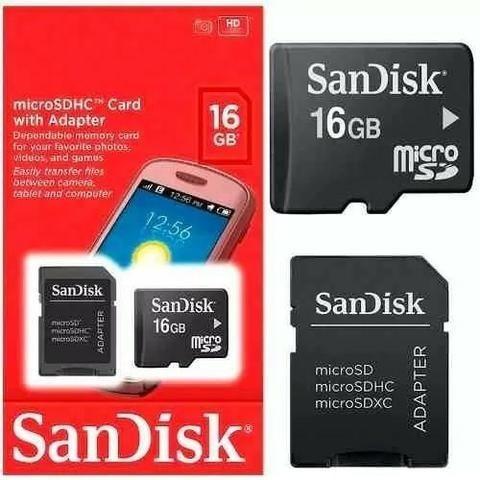 Cartão Sd 16gb Sandisk Original