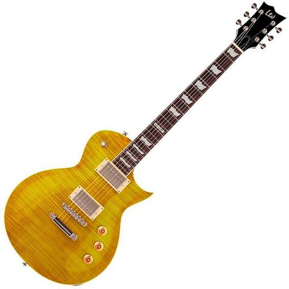 Guitarra Esp Ltd Ec-256 Lespaul Lemon Drop Mogno Top Flamed