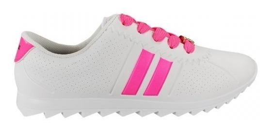 Tênis Sport Molekinha Branco C/ Detalhe Pink Ref. 2511.100