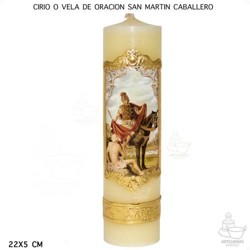 Imagen 1 de 5 de Cirio O Vela De Oración San Martín Caballero