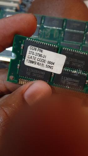 3 Memórias 128mb Servidor Sun Ultra 370-  3798- 01  Cod 004