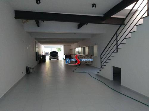Imagem 1 de 10 de Salão Para Alugar, 220 M² Por R$ 10.000,00/mês - Tatuapé - São Paulo/sp - Sl0194