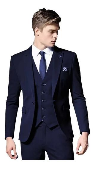 Terno Oxford Slim - Calça+paleto+gravata+kit Camisa+colete