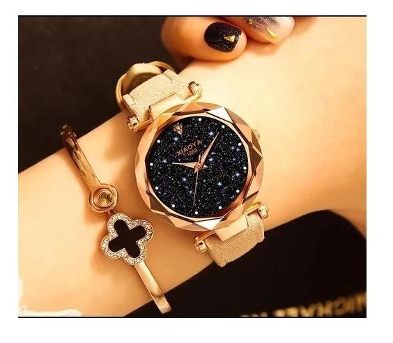 5 X Relógio Feminino De Pulso Céu Estrelado-xiaoya Luxo 1290