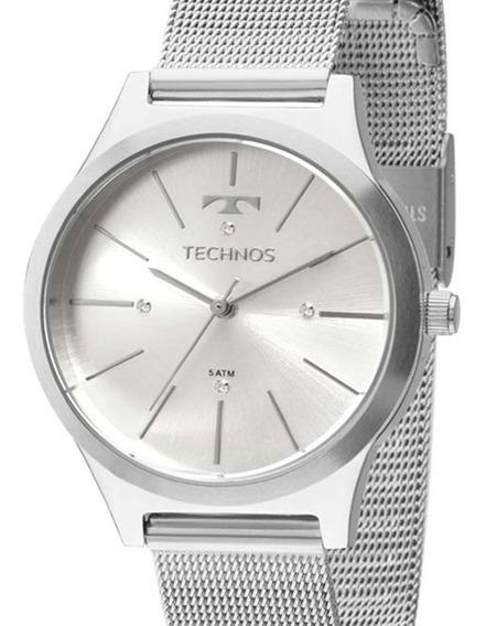 Relógio Technos Feminino Fashion 2039bf/1k Trend Prateado