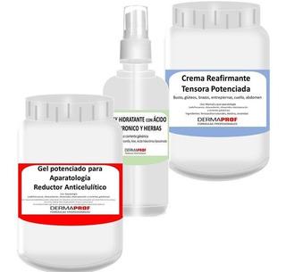 Galvanica Corporal Reductor Celulitis + Crema Post + Spray Marca Dermaprof