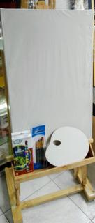 Combo Caballete Estudio 100cm Para Pintar Y Exposición