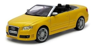 Miniatura Audi Rs4 Conversível 2007 Amarelo Maisto 1:18