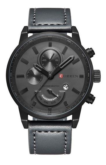 Relógio Masculino Original Curren Social Pulseira Em Couro