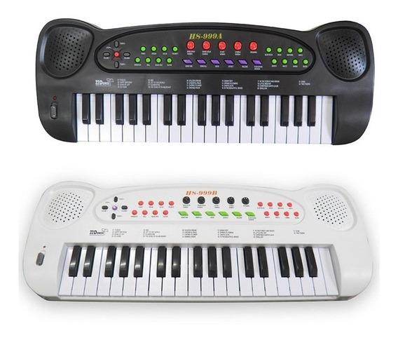 Piano Teclado Brinquedo Infantil Microfone Musical Educativo