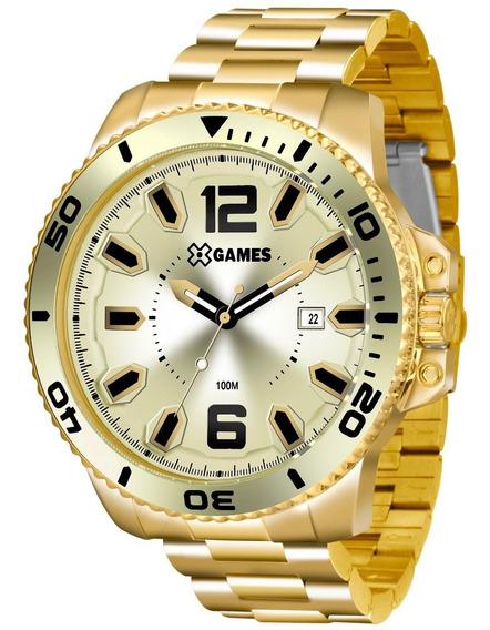 Relógio X-games Masculino Xmgs1019 C2kx Dourado Extra Grande