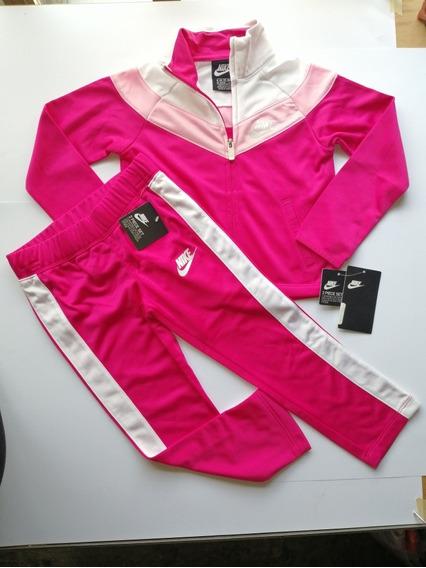 Conjunto Nike Nsw Chevron Tricot Set Rush Pink