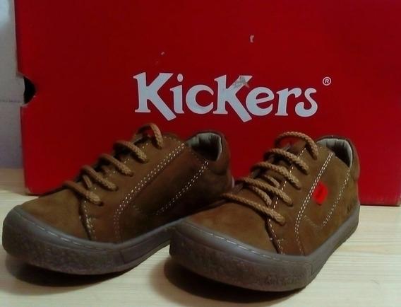 Zapatos Colegial Kickers Niño Talla 24 (30 Verdes)