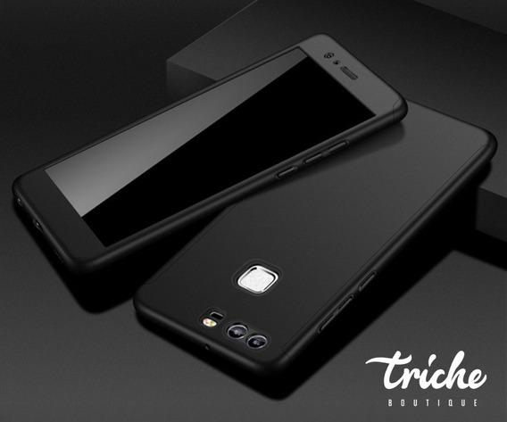 Funda 360 + Cristal Oficina Slim Color Seria Huawei P9 Plus