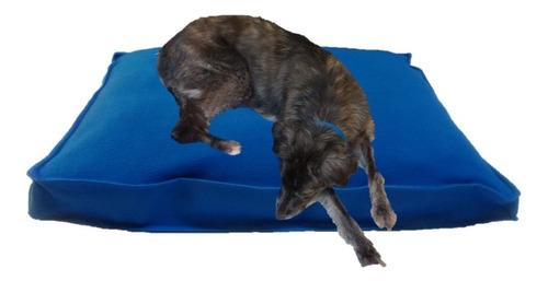 Imagen 1 de 2 de Colchón Polar Y Antidesgarro 90x60x10 Perro Mascota Invierno