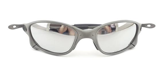 Óculos De Sol Double Xx Metal Juliet Squared Lentes Cinza