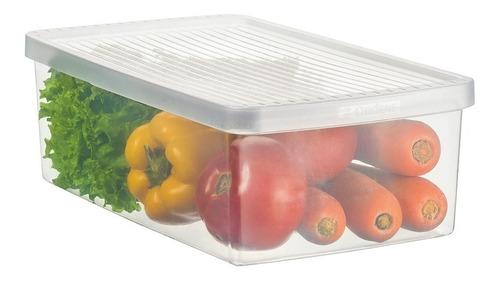 Caja Organizadora Plástico Tapa Ventilada Ideal Para Frutas