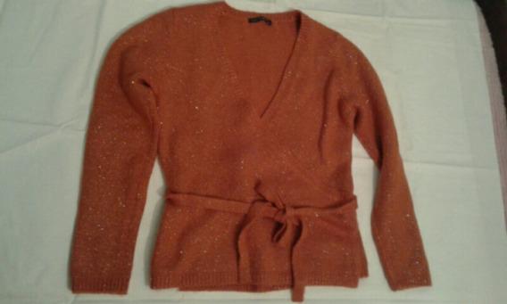 Cardigan Sweater Lana Cruzado Italiano