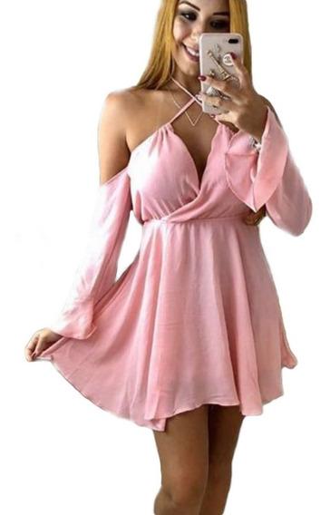 Vestido Feminino Ciganinha Rodado Bojo Alça Curto Moda Verão