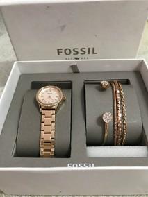 Relógio Fossil Feminino Ladies Scarlette Dourado