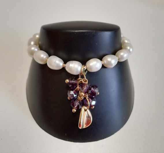 Pulsera De Moda Con Perlas De Oro Láminado Shyne