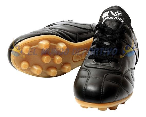 2110-zapato Futbol Manriquez Negro Choclo Classic