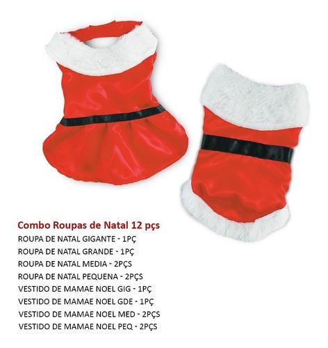 Combo Roupas Natal  12 Peças Macho/femea