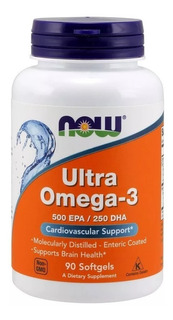 Ultra Omega-3 500/250 90 Caps Now Foods
