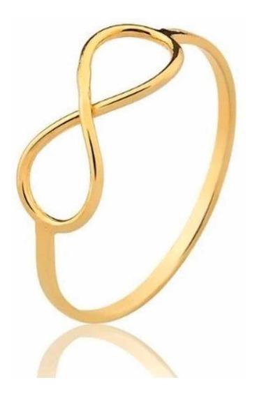 Anel Infinito Dia Dos Namorados Ouro 10k 416 Promoção Oferta