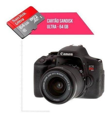 Cartão De Memória 64gb Ultra Para Câmera Canon T6i