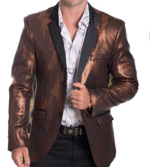 Saco Para Hombre Premium Marca Moderno Mj 2037 Bronce ( 1 )